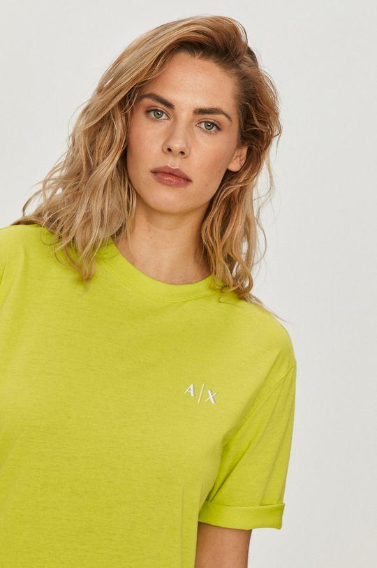 žlto-zelená Armani Exchange - Šaty