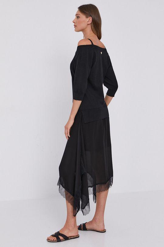 Twinset - Sukienka Podszewka: 100 % Poliester, Materiał 1: 94 % Bawełna, 6 % Poliamid, Materiał 2: 100 % Wiskoza