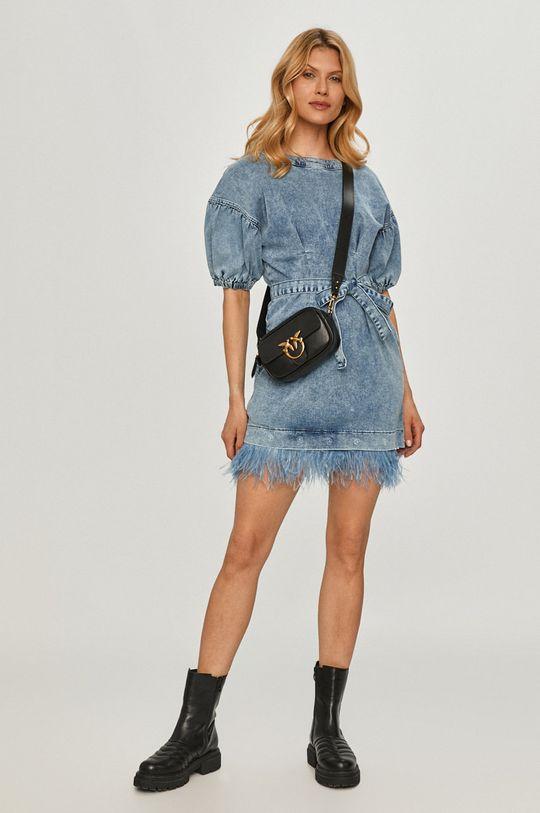 niebieski Twinset - Sukienka jeansowa Damski