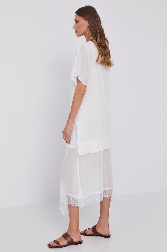 Twinset - Sukienka Materiał 1: 43 % Bawełna, 52 % Len, 5 % Poliamid, Materiał 2: 100 % Wiskoza