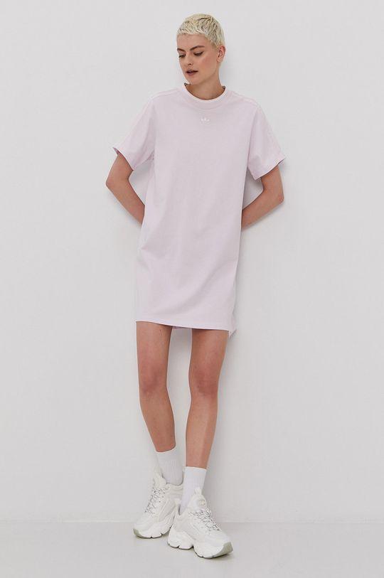 adidas Originals - Šaty levandulová