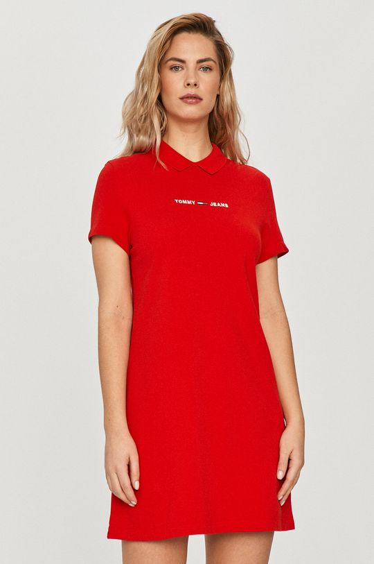 czerwony Tommy Jeans - Sukienka Damski