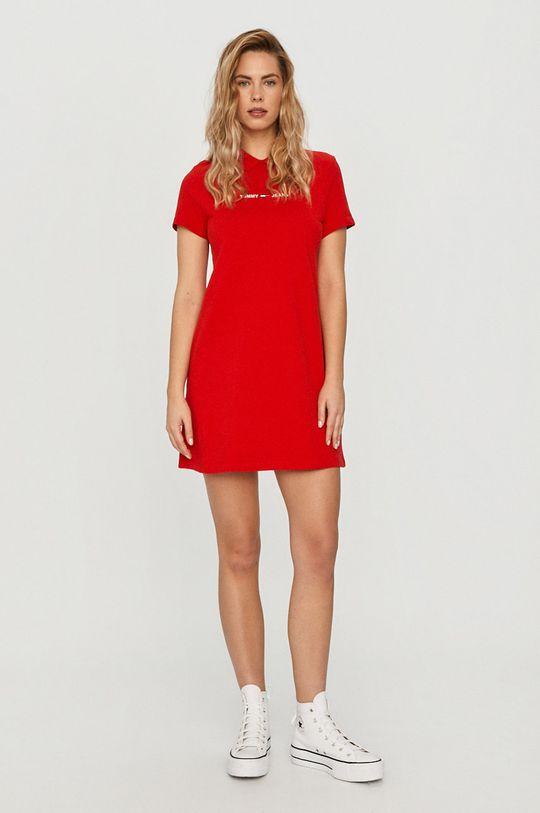 Tommy Jeans - Sukienka czerwony