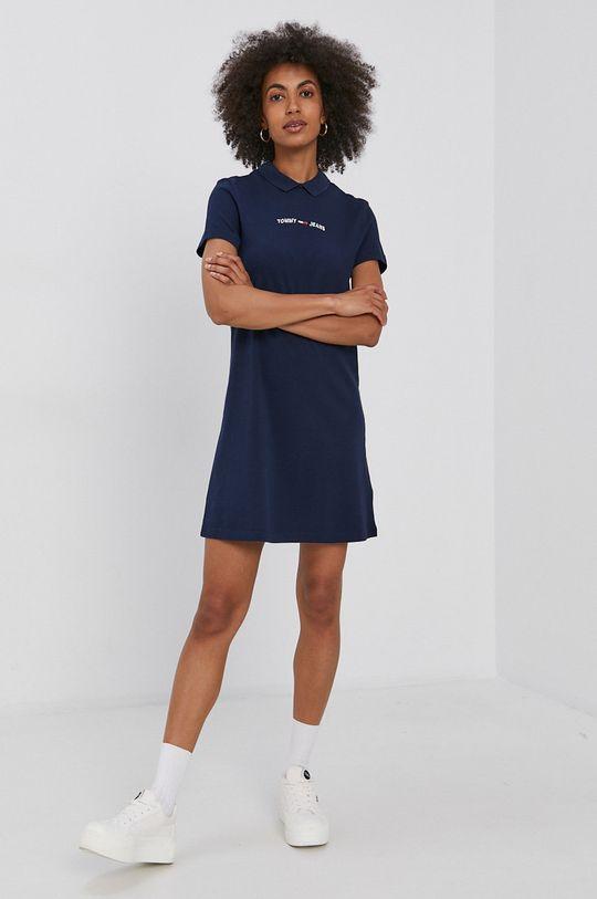 Tommy Jeans - Šaty námořnická modř