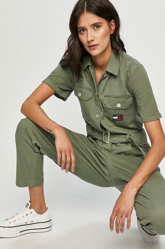 hnedo zelená Tommy Jeans - Overal Dámsky