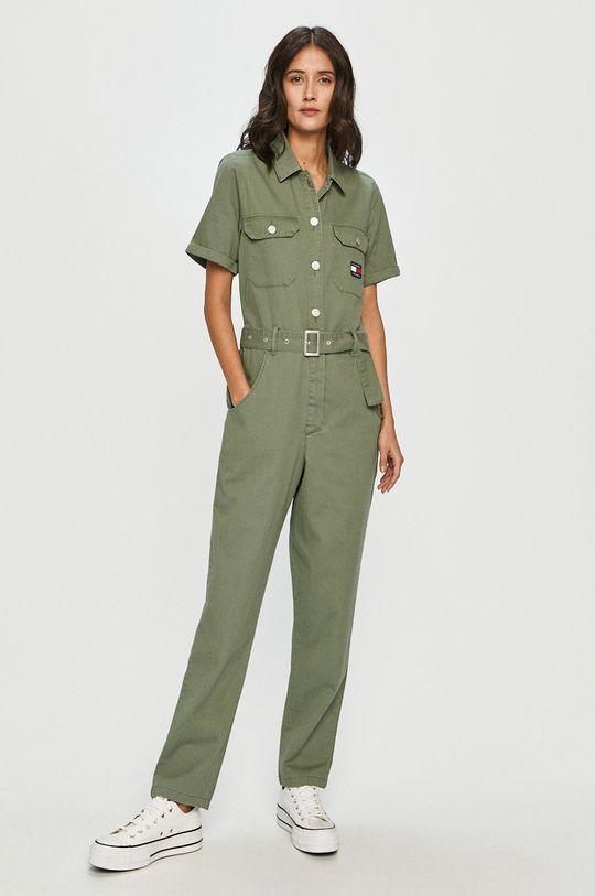 Tommy Jeans - Overal hnedo zelená