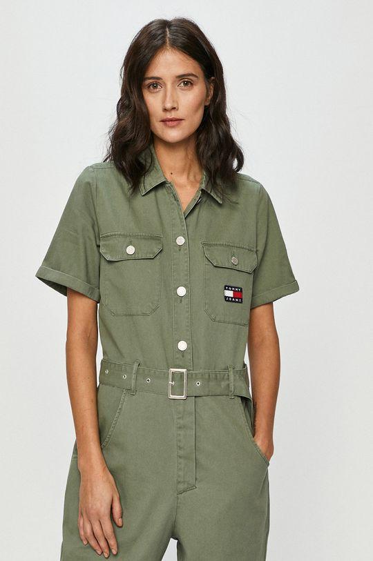 hnedo zelená Tommy Jeans - Overal