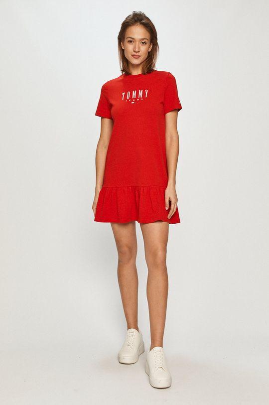 Tommy Jeans - Šaty červená