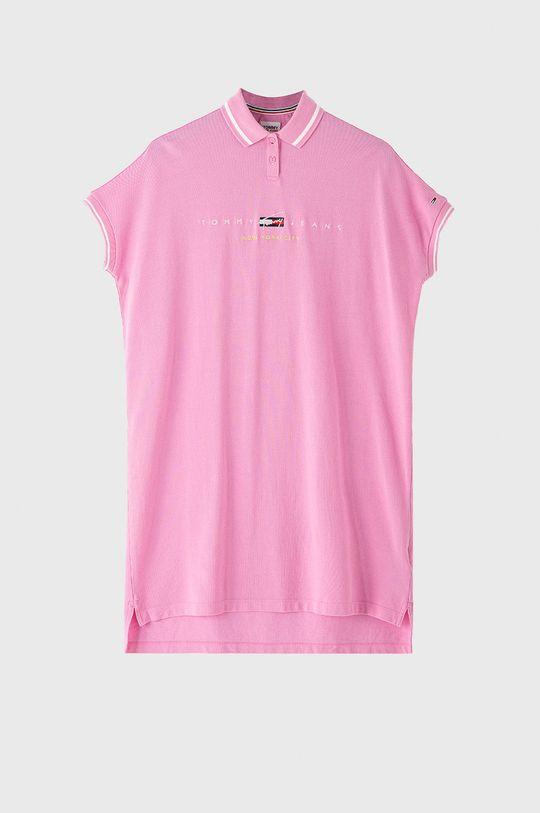 ružová Tommy Jeans - Šaty Dámsky