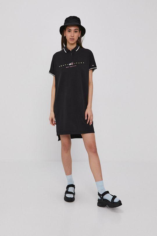 Tommy Jeans - Sukienka czarny