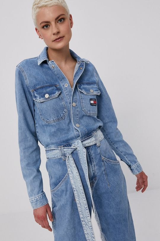 Tommy Jeans - Kombinezon jeansowy jasny niebieski