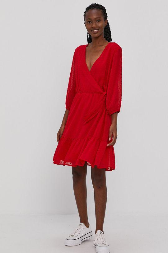 ostry czerwony Jacqueline de Yong - Sukienka Damski
