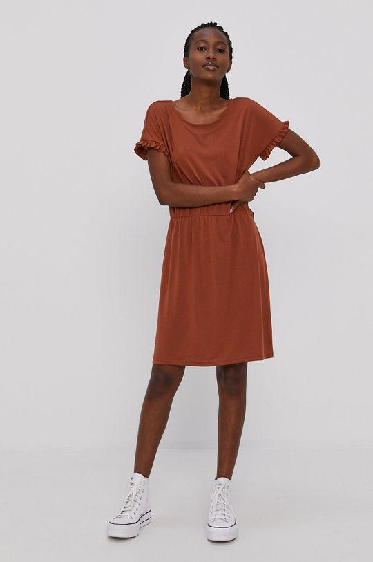 Jacqueline de Yong - Sukienka brązowy