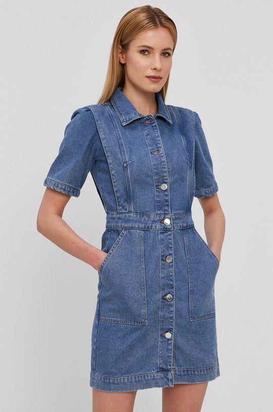 niebieski Morgan - Sukienka jeansowa Damski