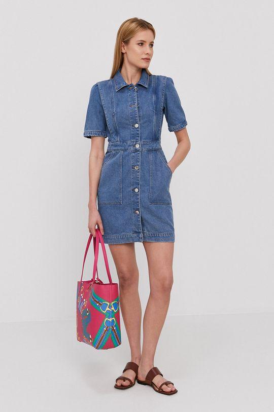 Morgan - Sukienka jeansowa niebieski