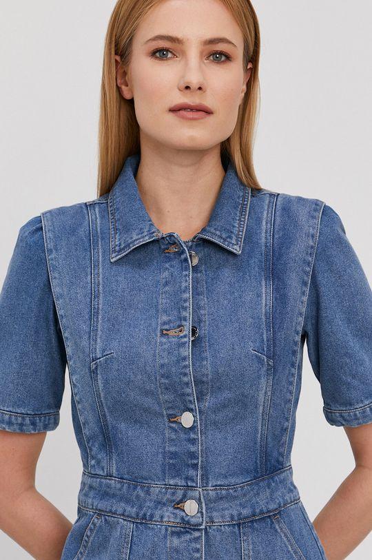 niebieski Morgan - Sukienka jeansowa