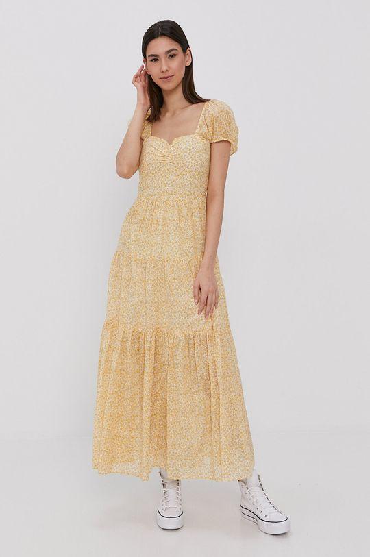 žltá Billabong - Šaty Dámsky