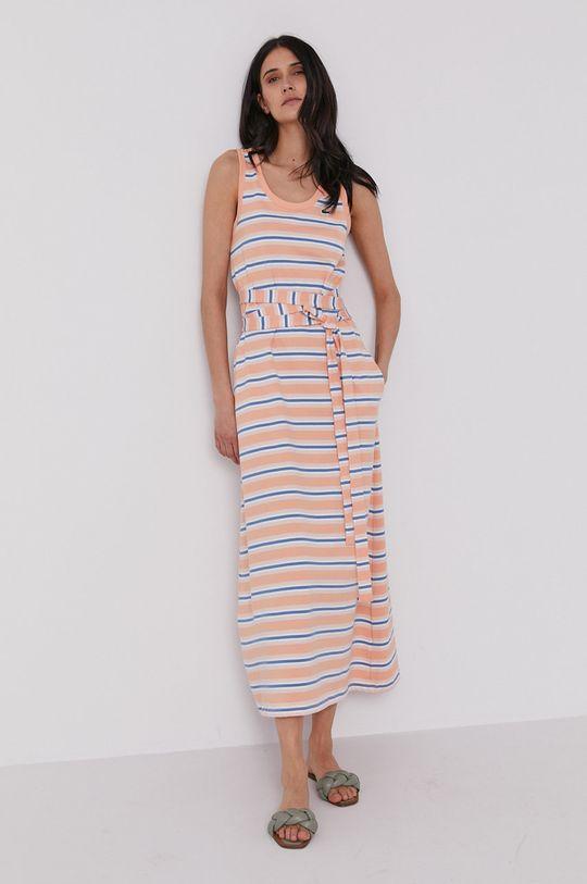 Lacoste - Sukienka pomarańczowy