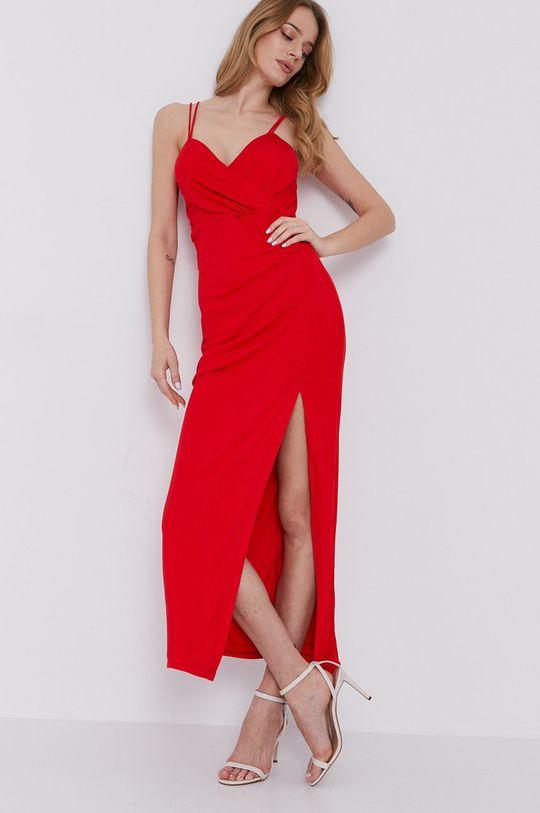 czerwony Bardot - Sukienka Damski