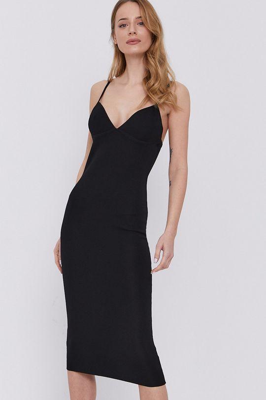 czarny Bardot - Sukienka Damski