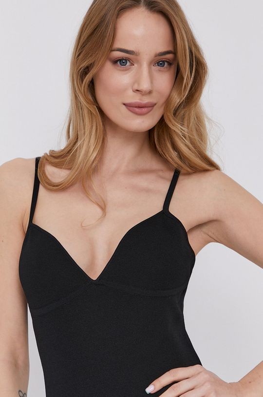 czarny Bardot - Sukienka