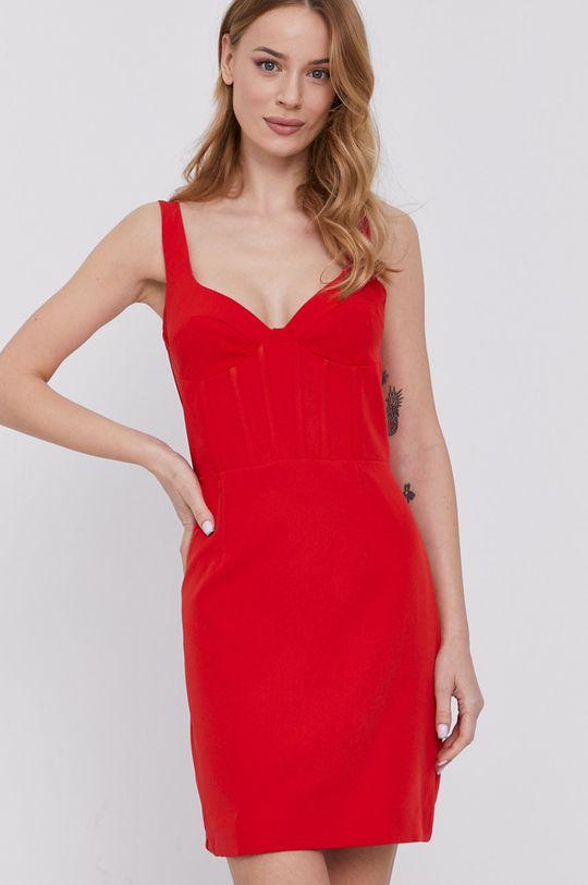 sýtočervená Bardot - Šaty Dámsky