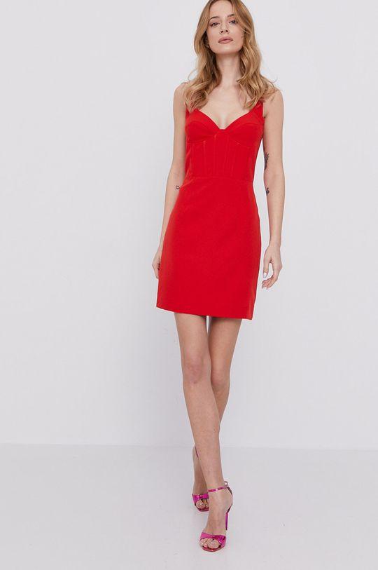 Bardot - Šaty sýtočervená