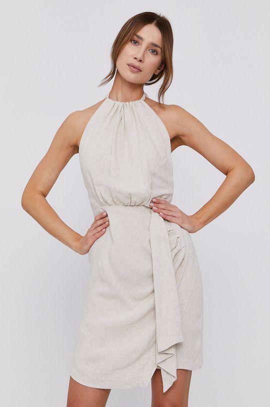 beżowy Bardot - Sukienka Damski