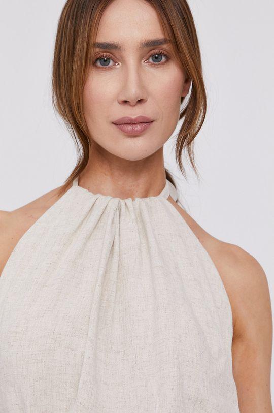beżowy Bardot - Sukienka