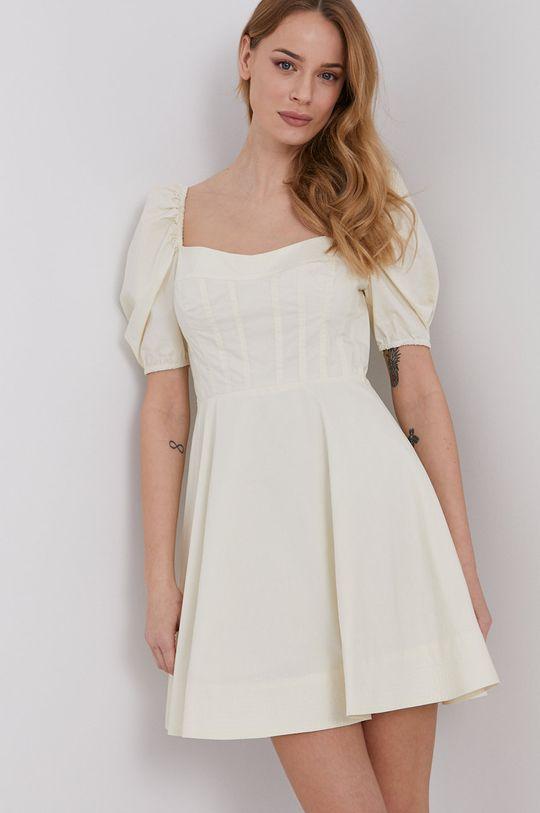 kremowy Bardot - Sukienka Damski