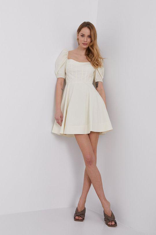 kremowy Bardot - Sukienka
