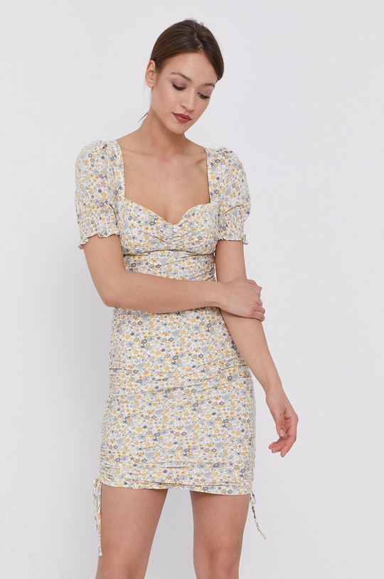 krémová Bardot - Šaty Dámsky