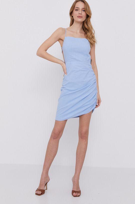niebieski Bardot - Sukienka Damski