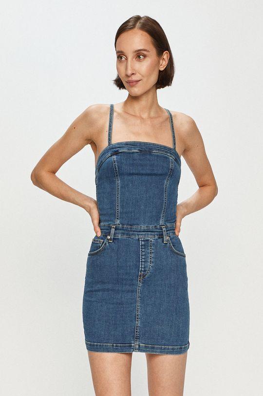 modrá Pepe Jeans - Džínové šaty Candi x Dua Lipa Dámský
