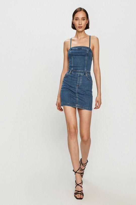 Pepe Jeans - Džínové šaty Candi x Dua Lipa modrá