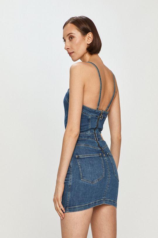 Pepe Jeans - Džínové šaty Candi x Dua Lipa  84% Bavlna, 2% Elastan, 14% Polyester