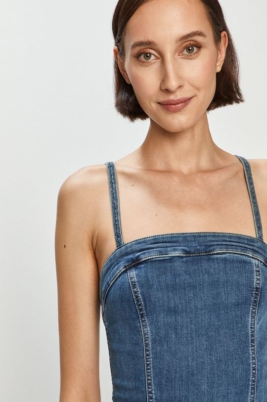 modrá Pepe Jeans - Džínové šaty Candi x Dua Lipa