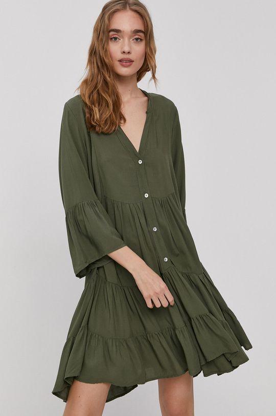 hnedo zelená Haily's - Šaty Dámsky