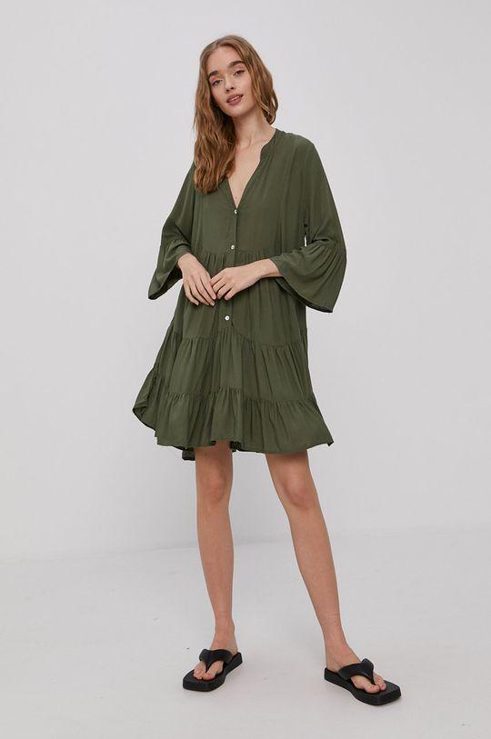 Haily's - Šaty hnedo zelená
