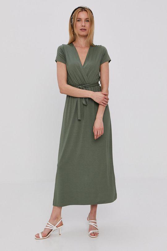 Haily's - Sukienka brązowa zieleń