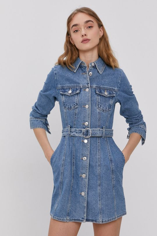 Tally Weijl - Rifľové šaty modrá
