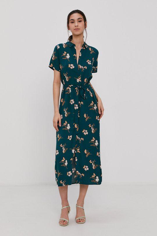 Vero Moda - Šaty tmavě tyrkysová