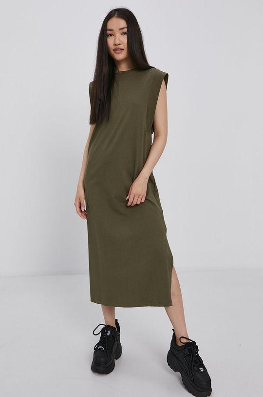 olivová Vero Moda - Šaty Dámský