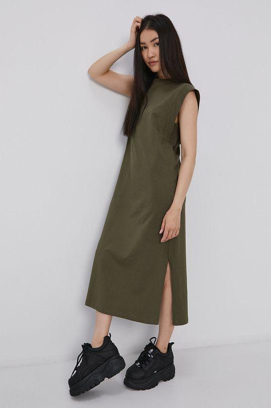 Vero Moda - Šaty olivová