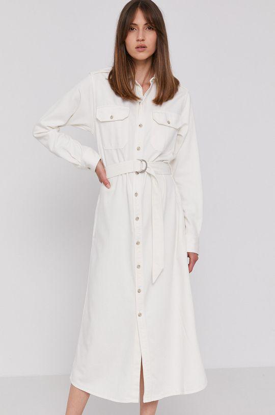 bílá Polo Ralph Lauren - Džínové šaty Dámský