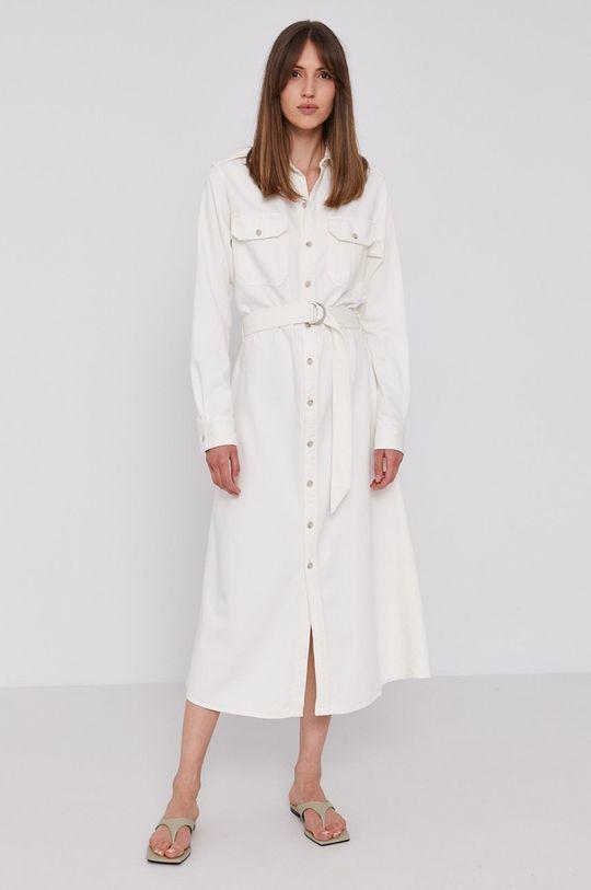 Polo Ralph Lauren - Džínové šaty bílá