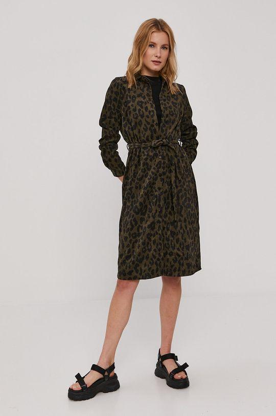 Vero Moda - Sukienka oliwkowy