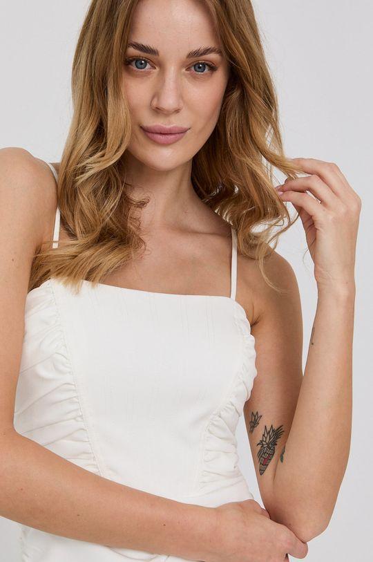 biały Bardot - Sukienka