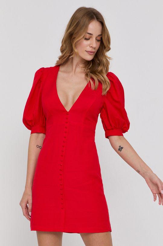 červená Bardot - Šaty Dámský