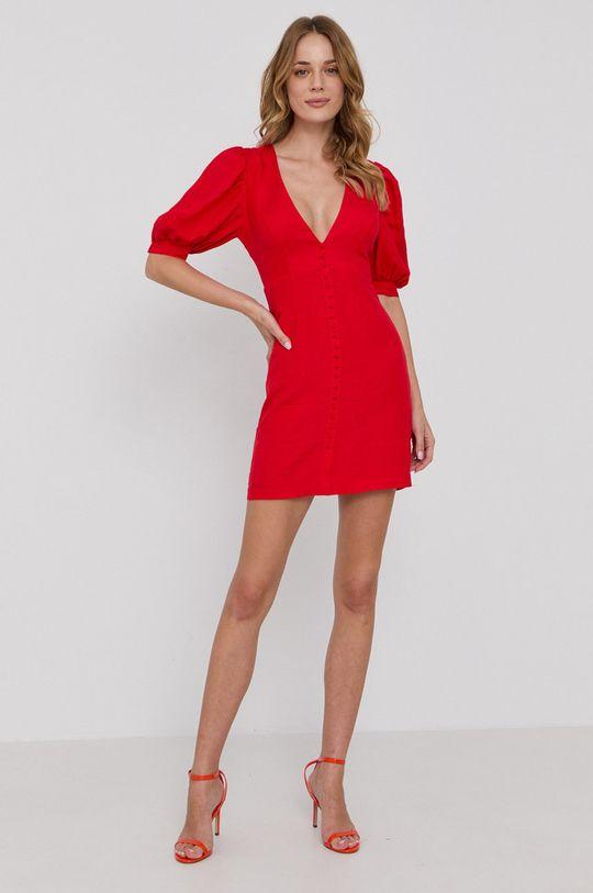 Bardot - Šaty červená